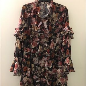 H&M Ruffled Floral Dress - Size 12